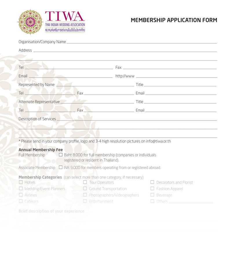 MEMBER SHIPAPPLICATION FORM